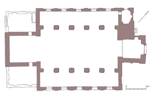 Fig. 8: Groundplan of the Saint Lawrence church. Credit: Daniël Pletinckx – Visual Dimension bvba