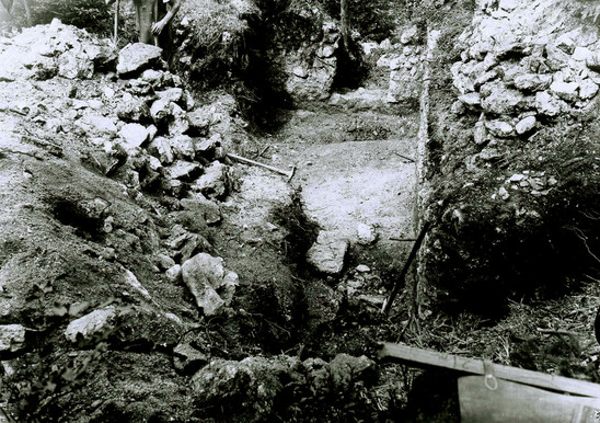 Fig. 20: Excavations of the National Museum in 1939. Credits: National Museum of Slovenia, Rajko Ložar