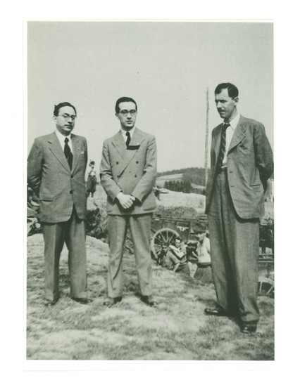 Fig. 21: Rajko Ložar (on the right) at excavations in Novo mesto in 1941. Credit: National Museum of Slovenia