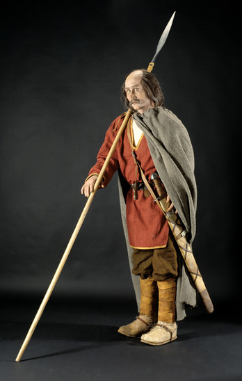 Fig. 22: Reconstruction of the warrior from Gradišče above Bašelj. Credits: National Museum of Slovenia, Miha Knific with collaborators, Tomaž Lauko
