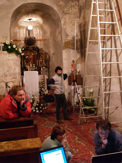 Fig. 38: St George Church, interior, evaluation of the non-intrusive survey of the wall paintings in 2006. Credit: The Monuments Board of the Slovak Republic