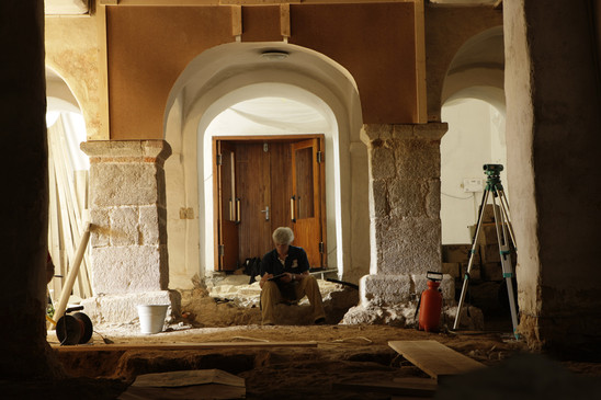 Fig. 41: St George Church, interior, re-excavation in the annex from the mid-13th century in 2010. Credit: The Monuments Board of the Slovak Republic
