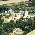 Fig. 1: Aerial view of the Abbey from the East in 1985. Credit: O. de Pierrefeu, Monuments historiques
