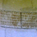 Fig. 19: Montmajour.  This inscription is in fact a fake, forged in 1421, date of its 'discovery' as 'proof' of the antiquity of the site and its alleged relationship with the legendary event. Credit: A. Hartmann-Virnich