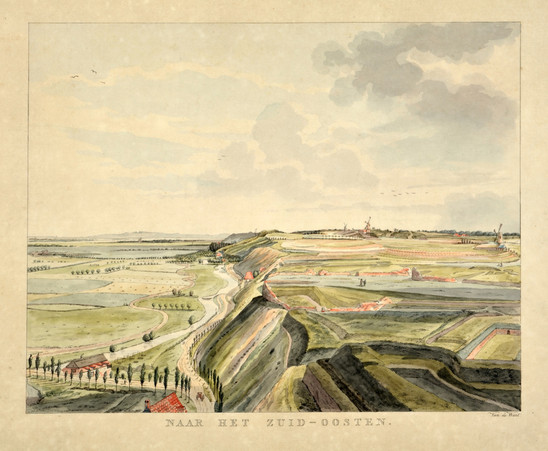 Fig. 2: This image shows clearly the ice-pushed ridge near Nijmegen and the large differences in height it created. Picture by Derk Anthony van de Wart, Gelders panorama drawn from life from the Belvedere in Nijmegen to the south-east, AD 1806. Credit: Museum Het Valkhof, Nijmegen