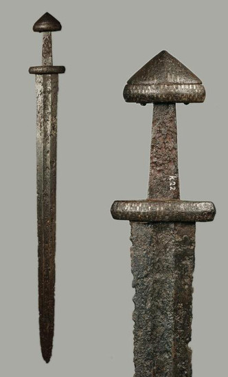 Fig. 28: Viking sword from the river Waal. Credit: Museum het Valkhof, Nijmegen