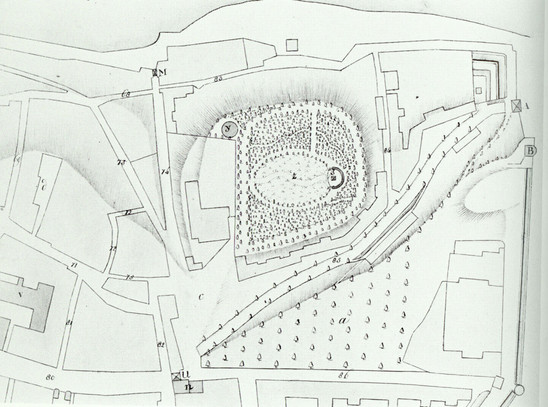 Fig. 37: Design of the park on the Valkhof by Jan D. Zocher. Credit: Regional Archives Nijmegen