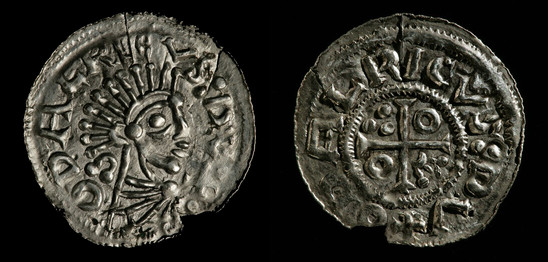 Fig. 20: Coin of Duke Oldřich from the Přemyslid family (c. 975–1034), found in a grave at the cemetery at St George Church at Kostol'any pod Tribečom. Credit: Jan Gloc