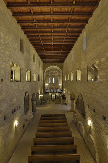 Fig. 32: Interior of today's St George Basilica, second half of the 12th century, later renovations and reconstructions. Credit: Jan Gloc