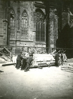 Fig. 42: Transfer of the grave of the 'warrior', lifted in a block with the surrounding soil in 1928 during the archaeological excavation. Credit: Institute of Archaeology of the Academy of Sciences of the Czech Republic, Prague Castle