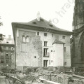 Fig. 44: The remains of the Romanesque Palace of the Bishop of Prague. In the foreground: uncovering of the Romanesque relics of the Chapel of St Maurice and St Vitus Basilica. Credit: The Archive of the Prague Castle