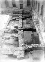 Fig. 52: St George Convent, cloister in 1962. View of the exposed relics of the former Romanesque and Gothic Convent. Credit: Institute of Archaeology of the Academy of Sciences of the Czech Republic, Prague Castle