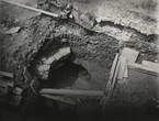 Fig. 59: So-called St Wenceslas Well – a water source in the upper part of the ravine in today's 3rd courtyard, photo of the excavation in 1928. Credit: Institute of Archaeology of the Academy of Sciences of the Czech Republic, Prague Castle