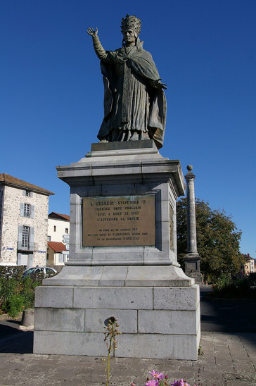 Fig. 18: Gerbert d'Aurillac – Statue of Pope Sylvester II (City of Aurillac, France). Credit: Nolege, Wikimedia Commons