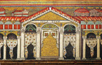 Fig. 28: Theodoric's Palace depicted in a mosaic in Sant'Appolinare Nuovo, Ravenna. Credit: Municipality of Ravenna