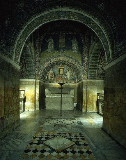 Fig. 4: Partial view of the Mausoleum of Galla Placidia in Ravenna. Credit: Municipality of Ravenna