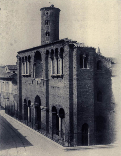 Fig. 55: The so-called Theodoric's Palace in 1905. Credit: Luigi Ricci, Municipality of Ravenna