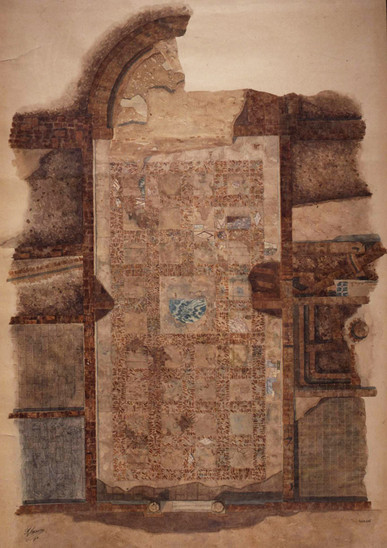 Fig. 6: Floor plan of the so-called Theodoric's Palace. Credit: P. Bernabini, courtesy of SBAP-RA (MIBAC-Italy)