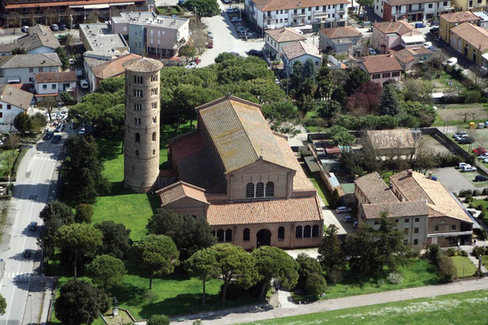 Fig. 8: Aerial view of Sant'Apollinare in Classe, Classe, Ravenna. Credit: Municipality of Ravenna