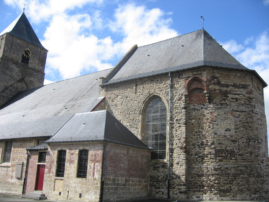 Fig. 33: Choir of the Saint-Martin's church with 14th-15th century alterations. Credit: The Provinciaal Archeologisch Museum Velzeke
