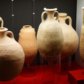 Fig. 8: Mediterranean amphorae for wine, olive-oil, fish-sauce and alum from Greece, Italy and Spain. Credit: The Provinciaal Archeologisch Museum Velzeke